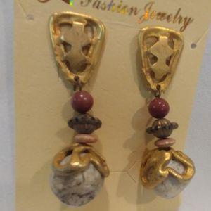 Vintage earthtone earrings